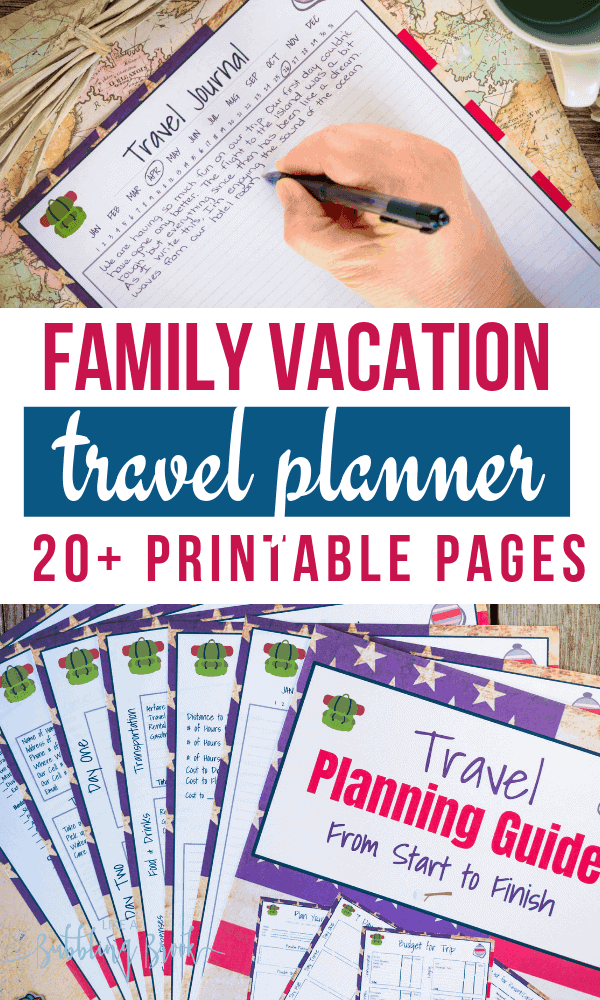 Printable Vacation Planner for instant download