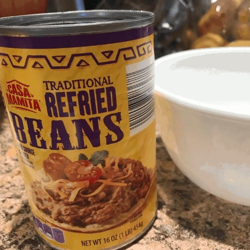 Can of refried beans