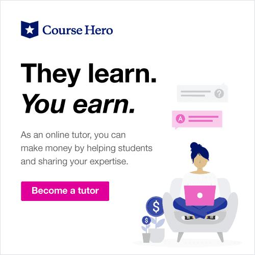 Become a Course Hero Tutor
