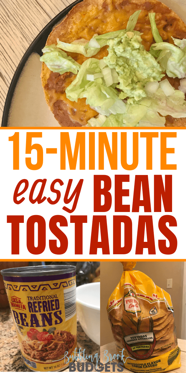 This easy baked tostadas recipe is one of our family's favorite 15 minute meals!