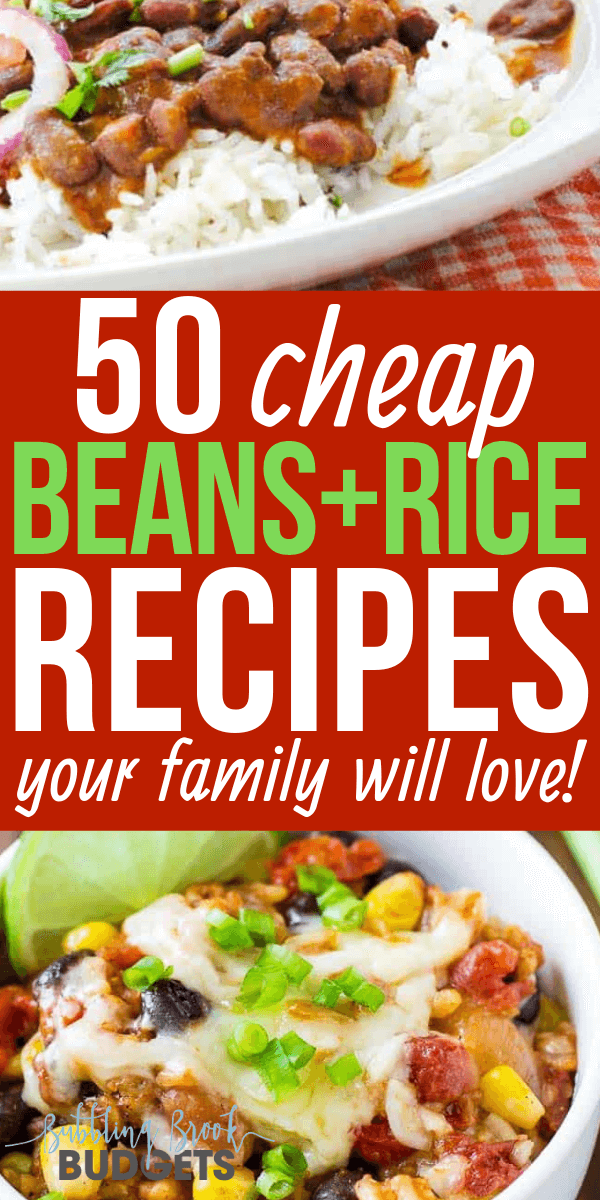 Looking for cheap healthy meal ideas? Here are 50 easy beans and rice recipes your whole family will love!