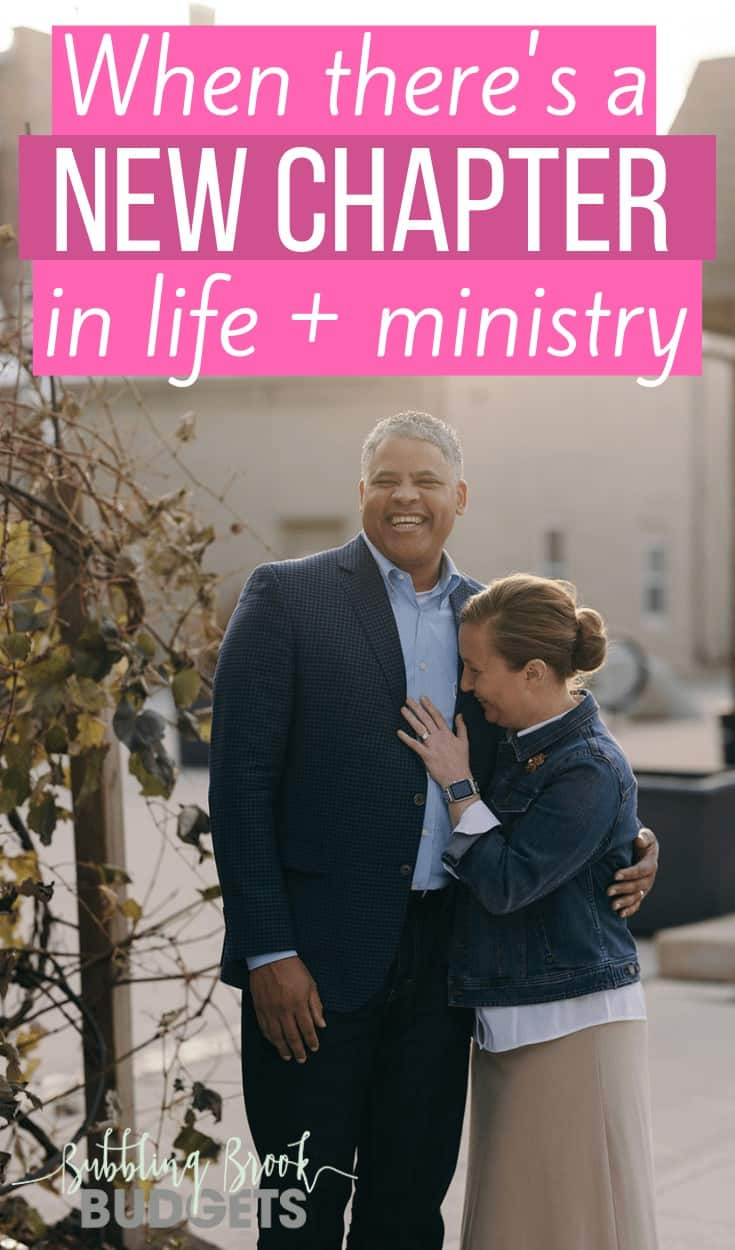 A new chapter in life and ministry