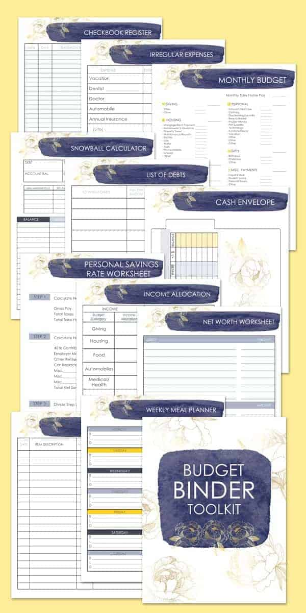 Printable Budget Planner in Gold Floral