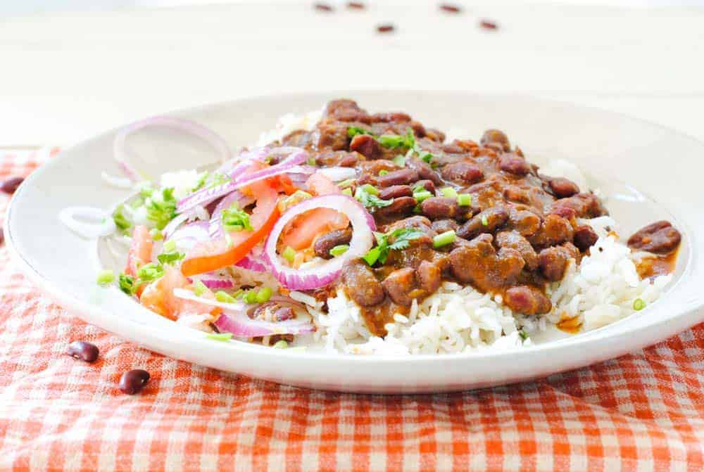 Bowl of Rajma Chawal