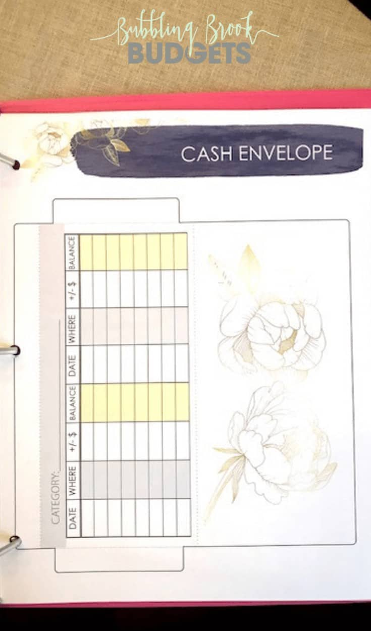 Printable Cash Envelope Template - I love this one! It's so beautiful!