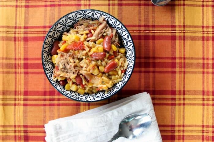 Jerk pork rice bowl
