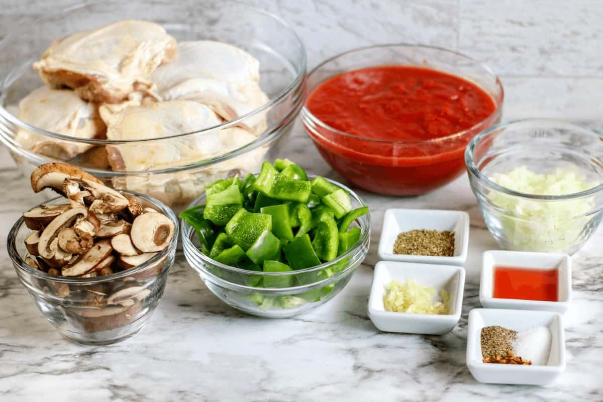 Crock Pot Chicken Cacciatore Ingredients