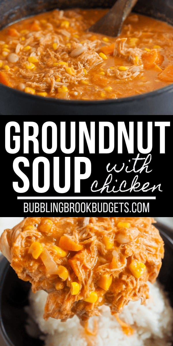Ground nut soup, also called peanut butter soup