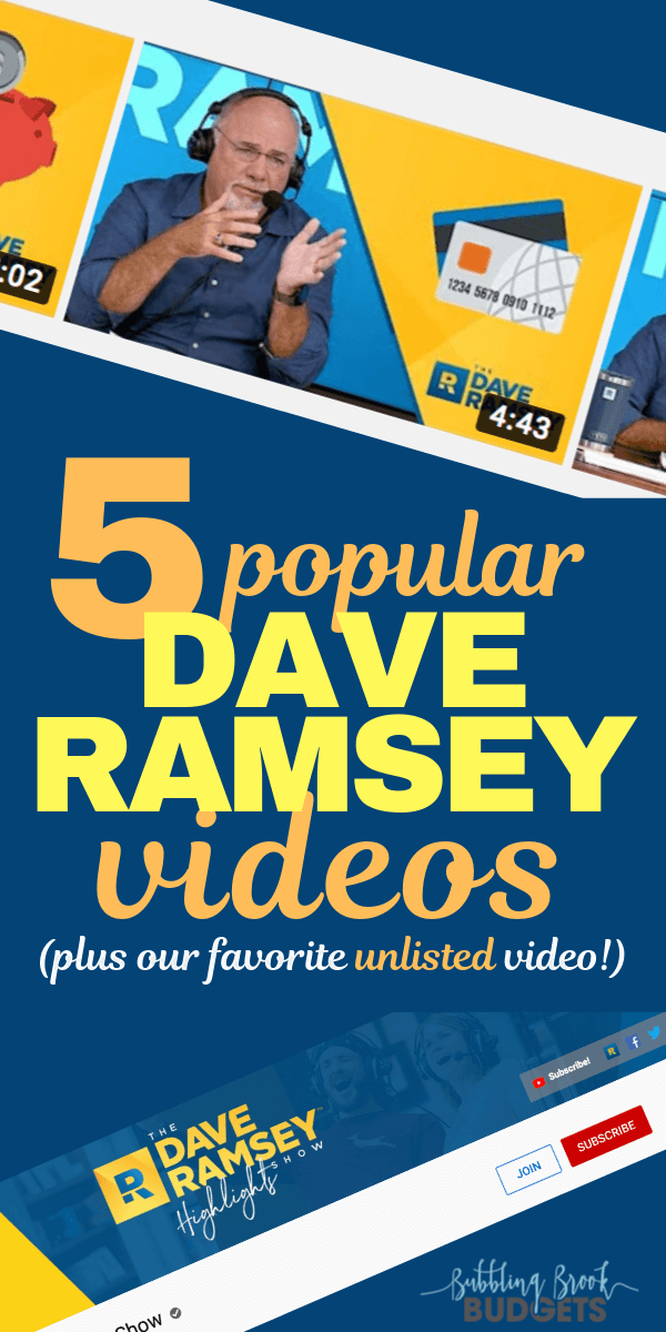Dave Ramsey YouTube Videos to Watch - Pinterest Pin