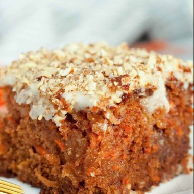 J Alexander's carrot cake sliced