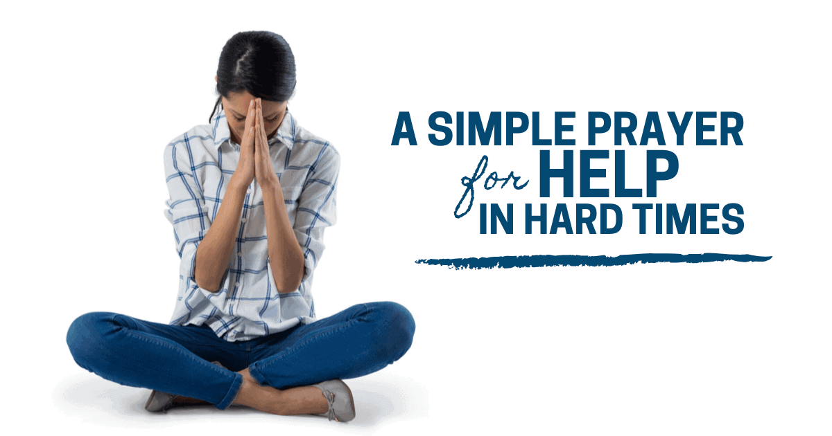 Woman praying to God for help