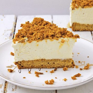 Slice of Pumpkin Bread Cheesecake