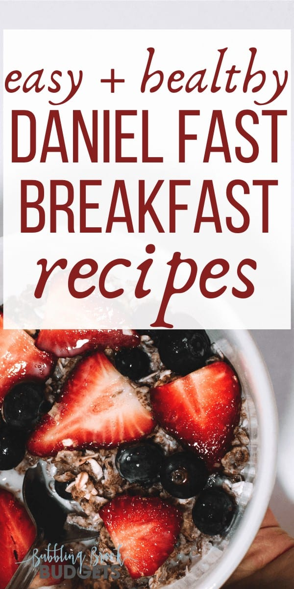 Bowl of oatmeal and fruit - Daniel Fast breakfast recipes