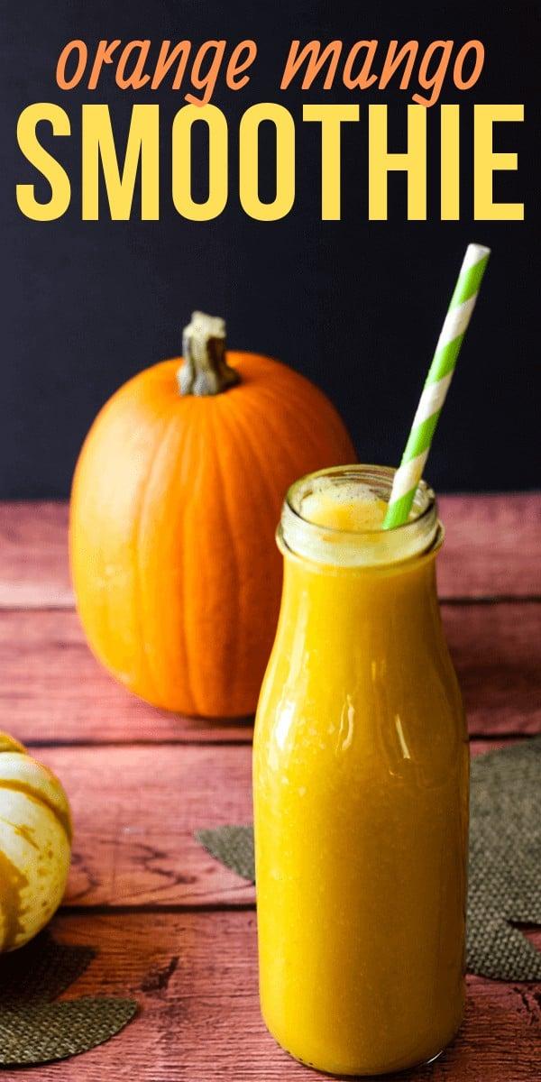 Orange Mango Smoothie with Pumpkin