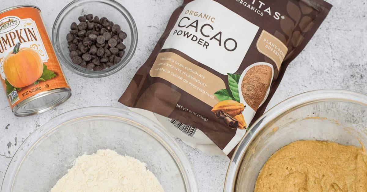 Pumpkin chocolate chip brownies ingredients