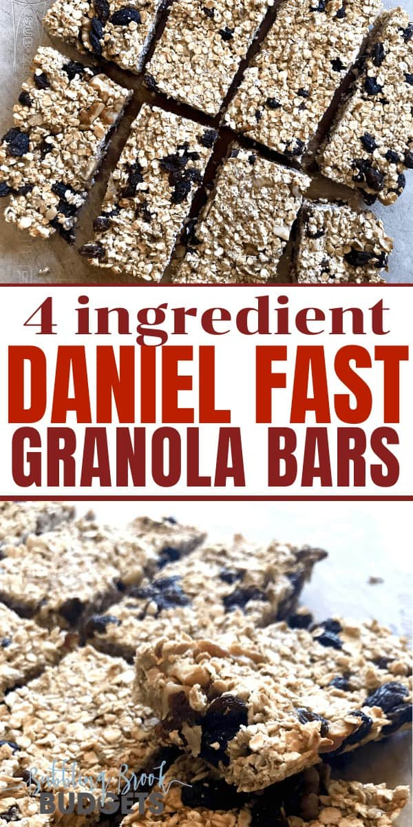 If you're on the Daniel Fast and need a quick snack, you love this easy Daniel Fast granola bar recipe. With just four ingredients, they're super easy to make and can be ready in about 30 minutes!
