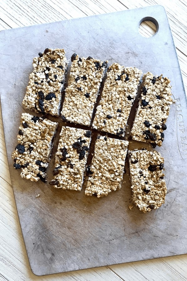 Daniel Fast granola bar recipe, done baking and ready to eat!