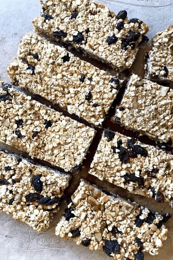 Daniel Fast granola bar recipe