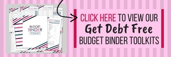 Get debt free with our budget binder printables - click here!