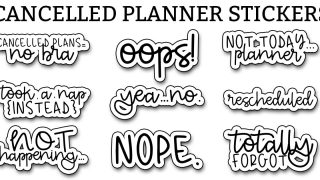 Cancelled Stickers – Free Cancelled Planner Stickers