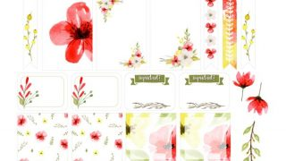 Free Floral Planner Stickers Printable