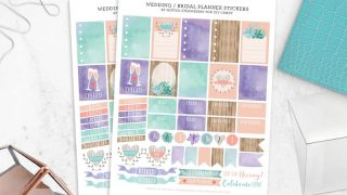 Free Bridal and Wedding Stickers for Planners
