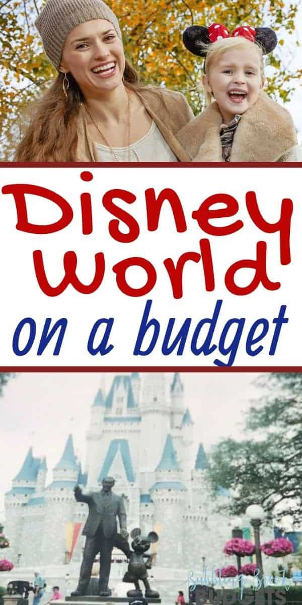 Disney World on a budget - pin for Pinterest