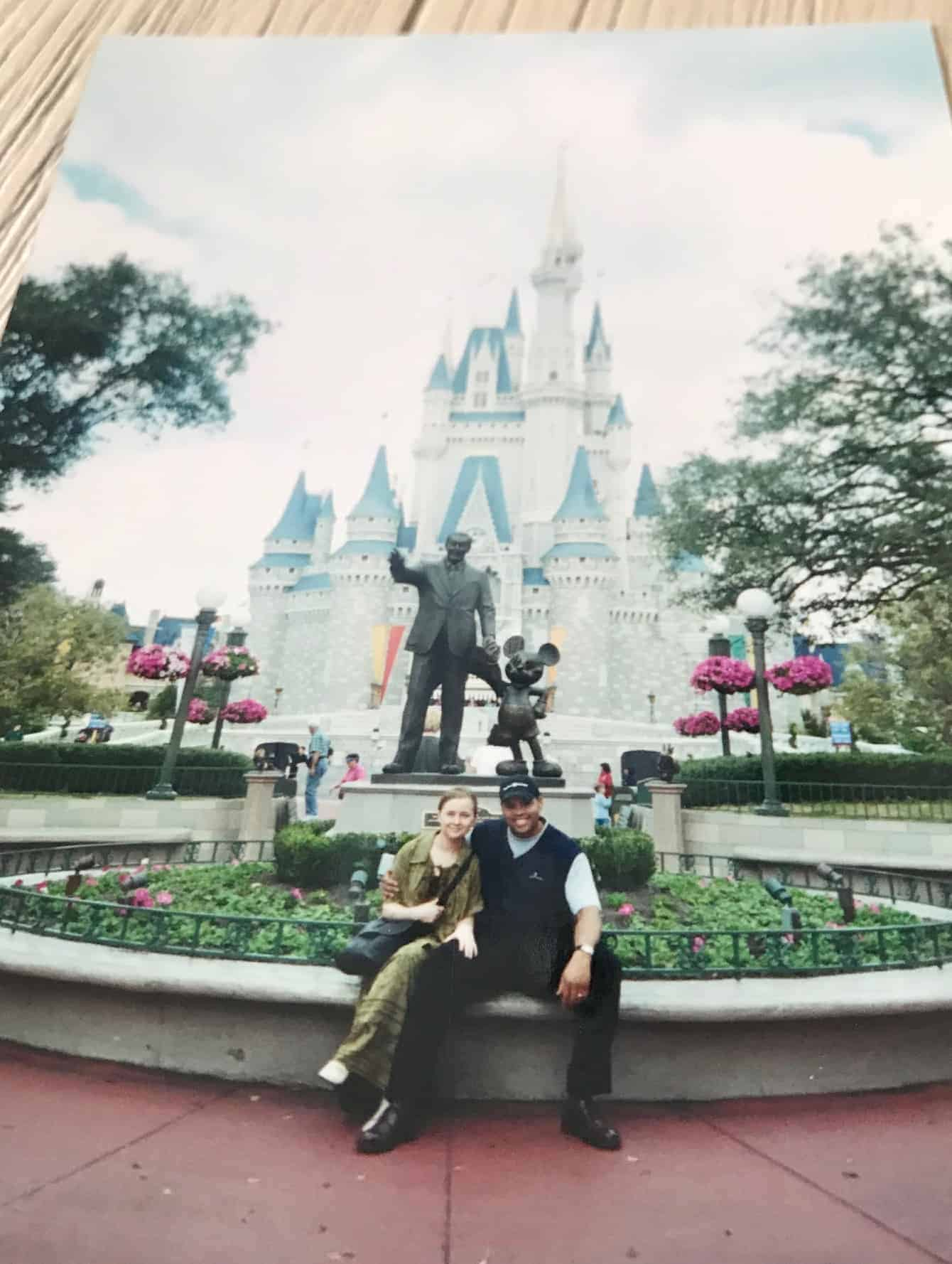 Us at disney world in 2001