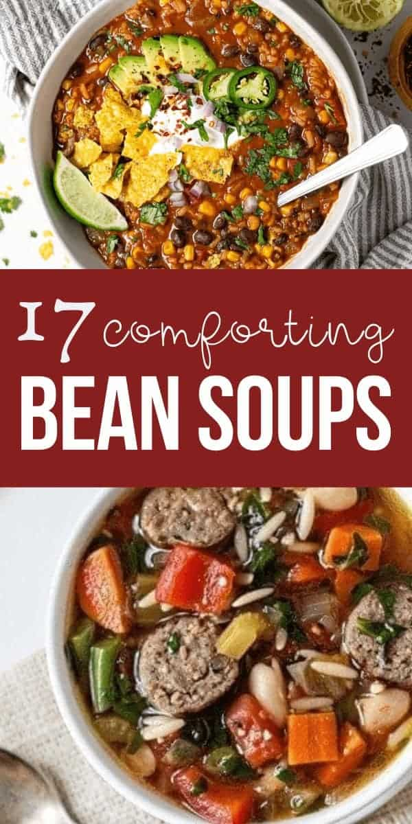 Comforting bean soup recipes in bowls