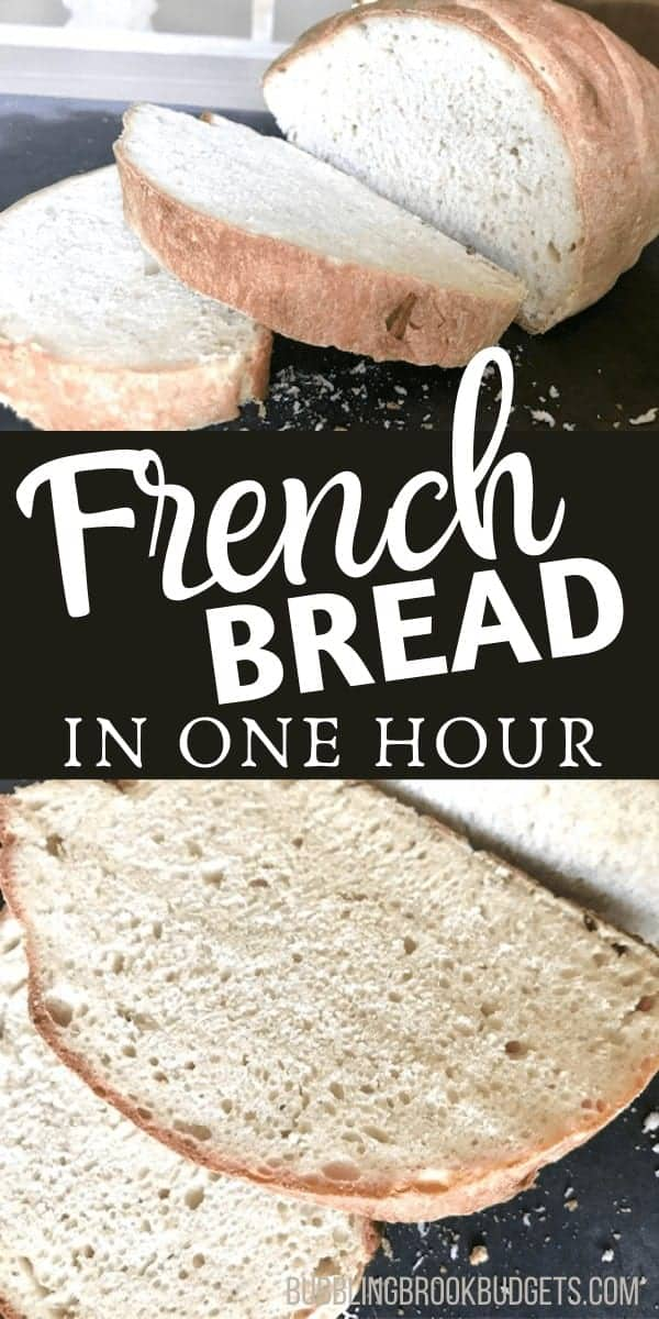 Crusty French Bread Recipe - Pin for Pinterest