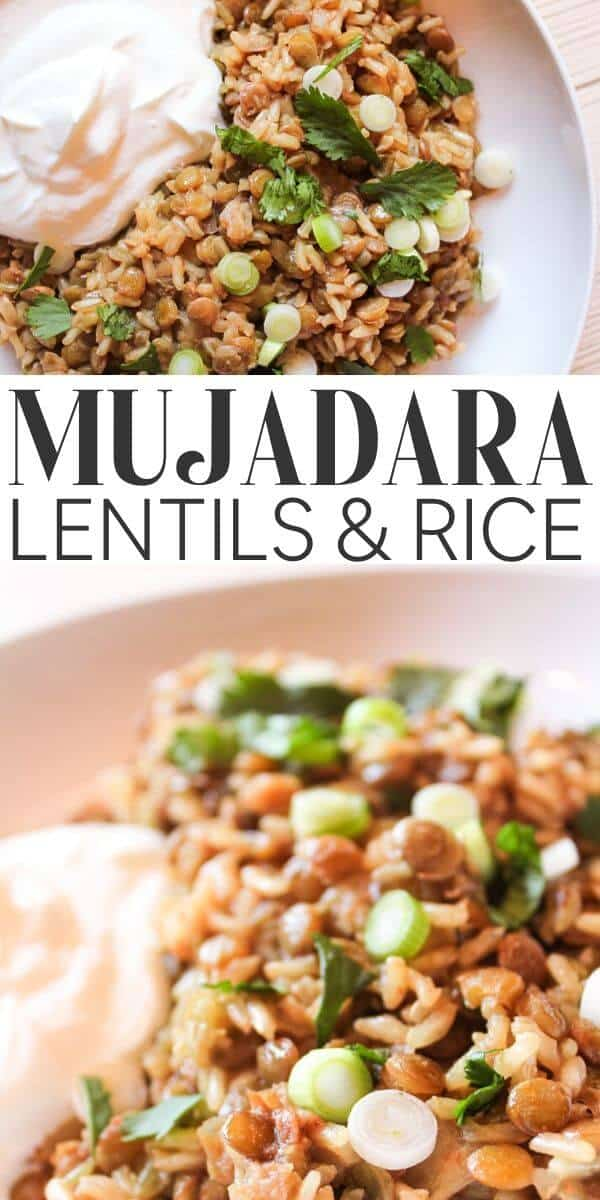 Moujadara / Mujadara recipe - pin for Pinterest