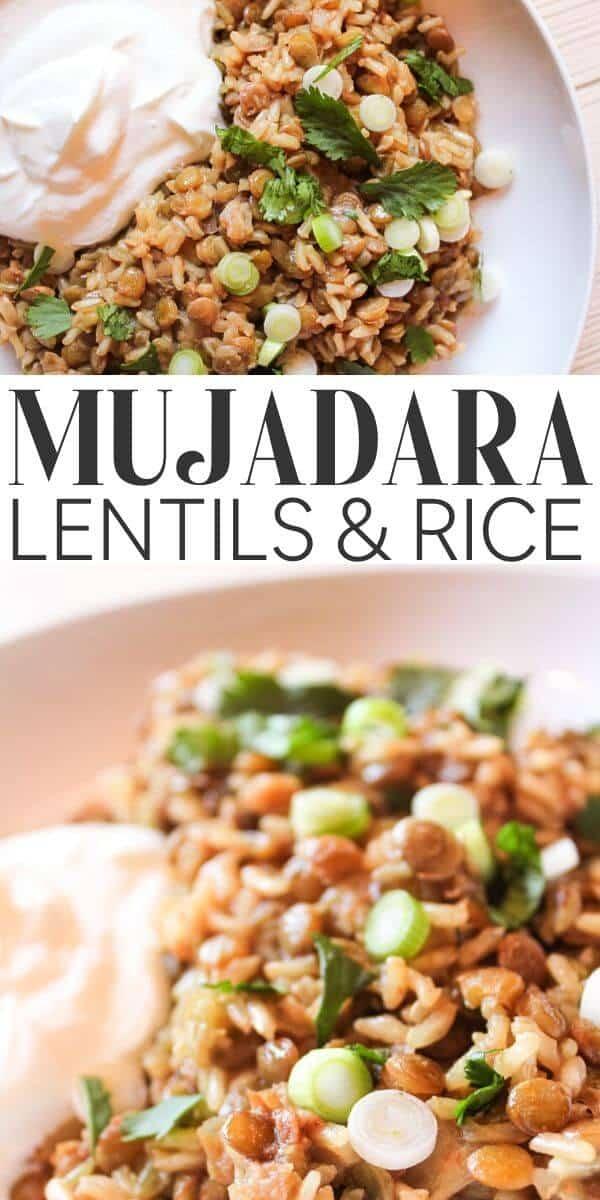 Moujadara / Mujadara recipe - pin for Pinterest