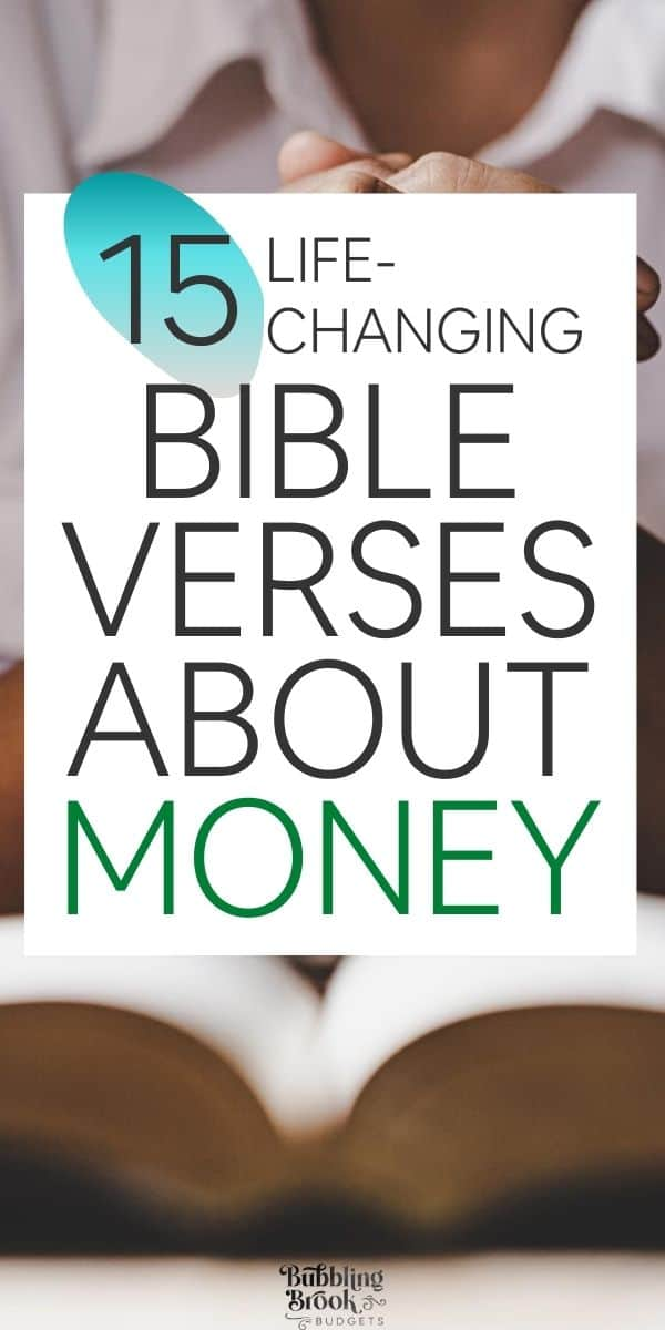 15 Bible Verses About Finances - Pin for Pinterest