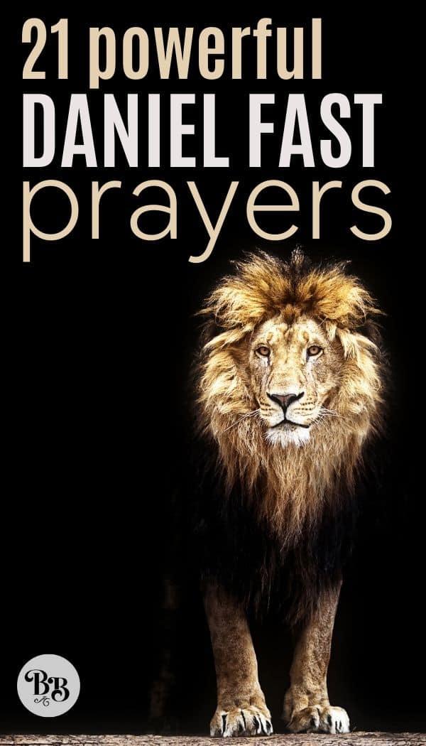 21 prayers for the Daniel Fast - pinterest image
