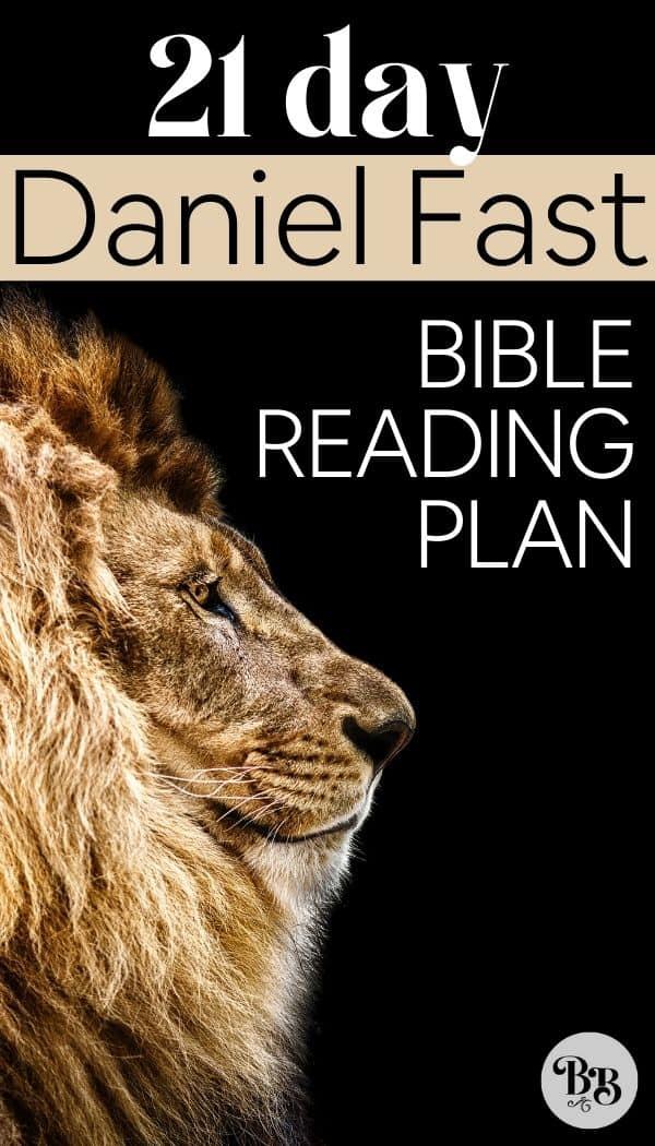 Daniel Fast Scripture Readings - pin for Pinterest