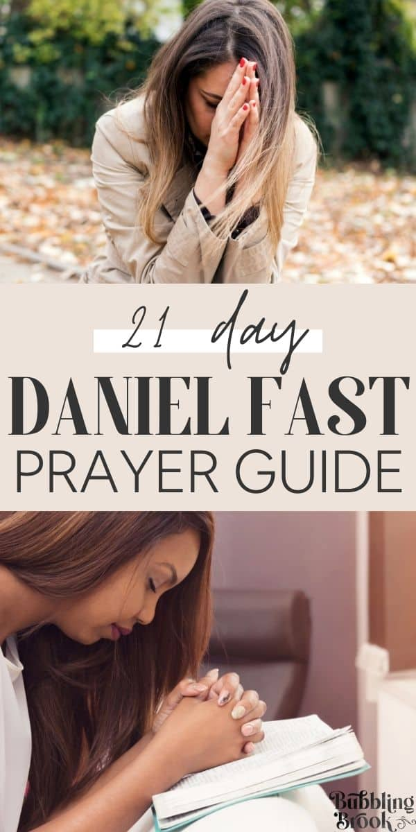21 Day Daniel Fast Prayer Guide - pin for pinterest