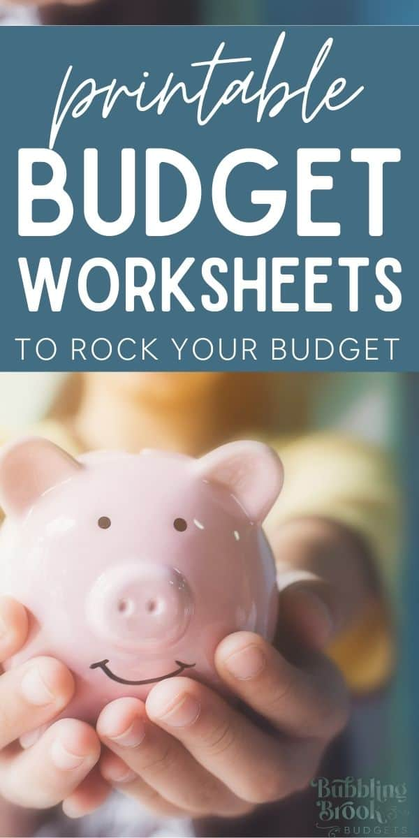 Free printable budgeting worksheets - pin for pinterest