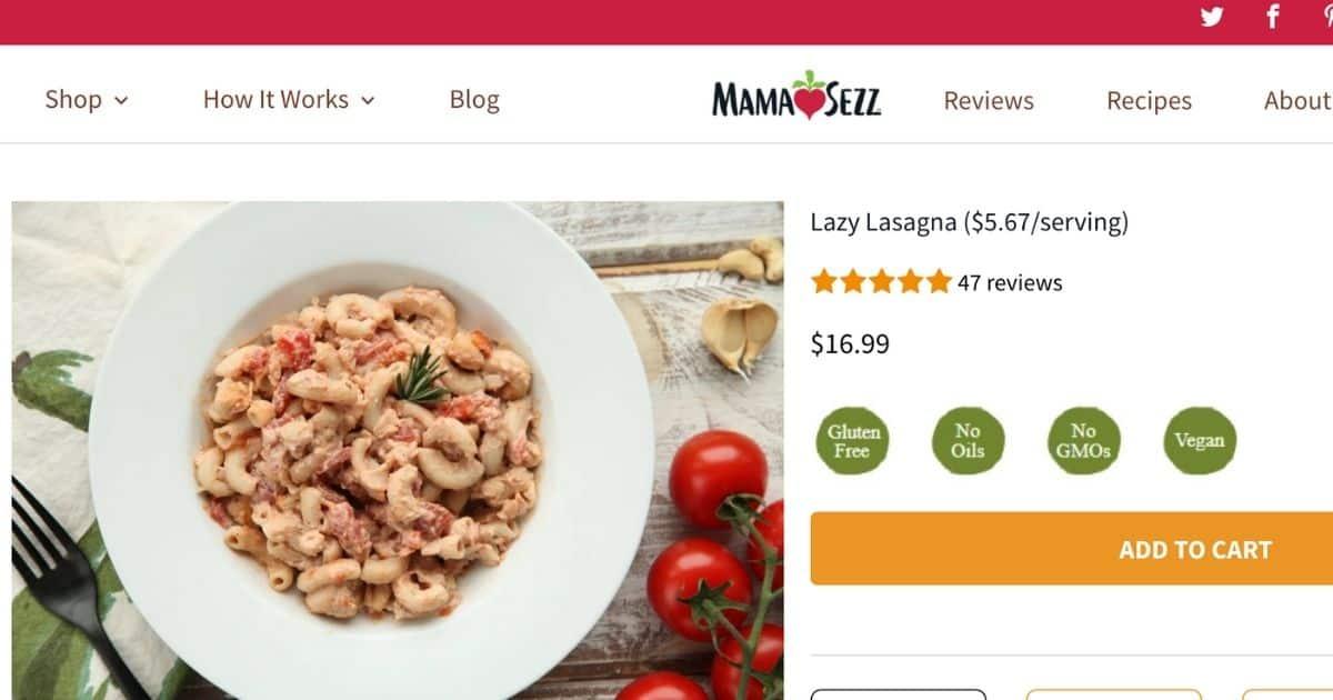 MamaSezz Lazy Lasagna