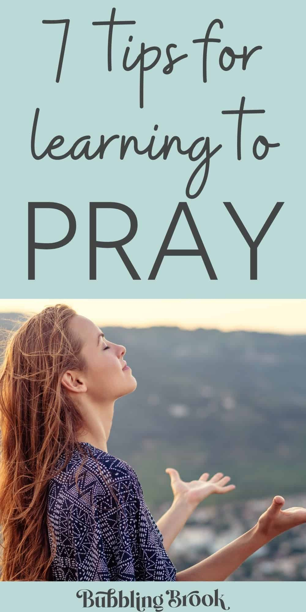 Learning how to pray for beginners - pin for pinterest