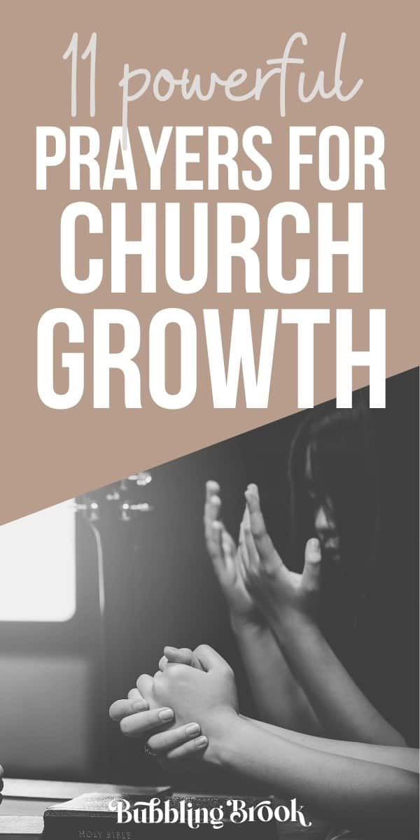 11 Prayers for Church Growth - pin for pinterest