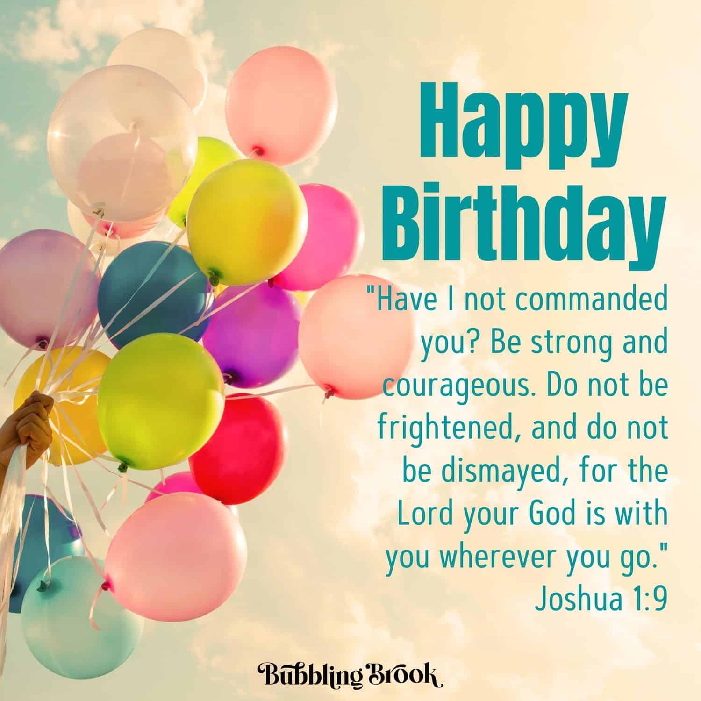 Birthday Joshua 1:9 graphic
