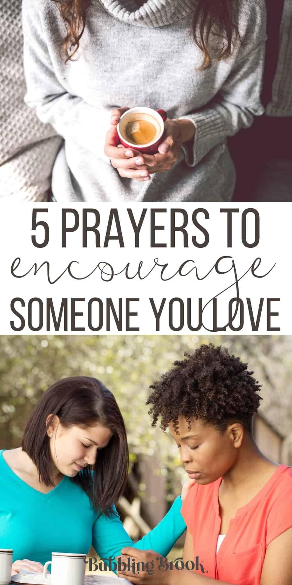 5 Uplifting Prayers for Encouragement - Pin for Pinterest
