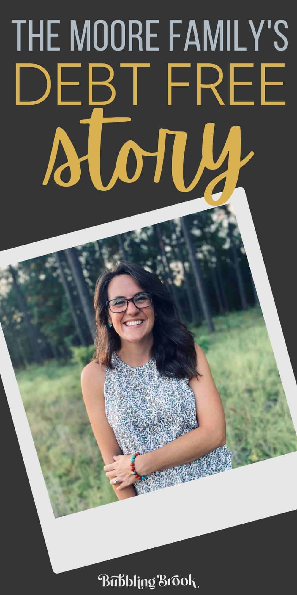 The Moore family's debt free story - pin for Pinterest