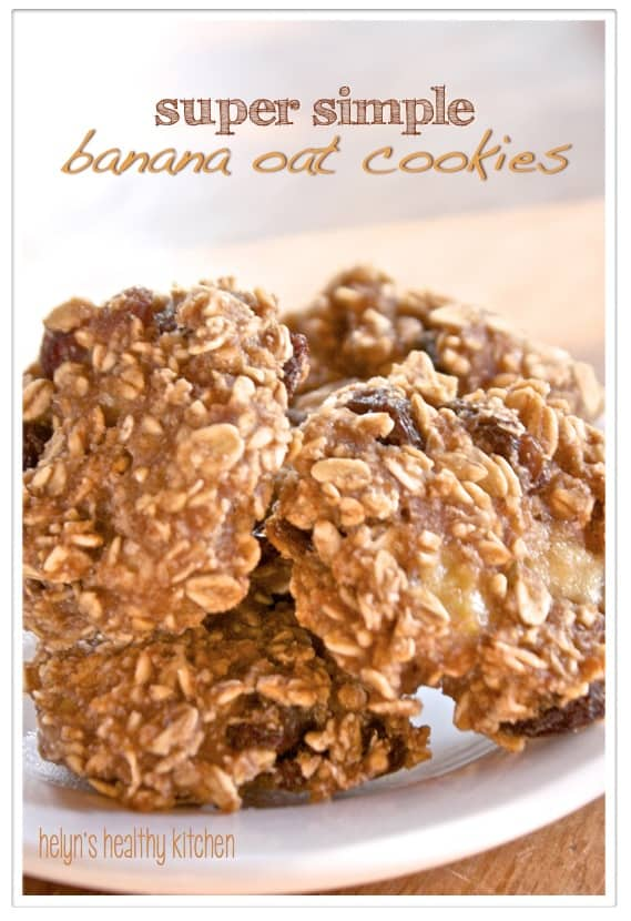 Banana and oat cookies - vegan