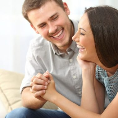 Couple enjoying time together in prayer