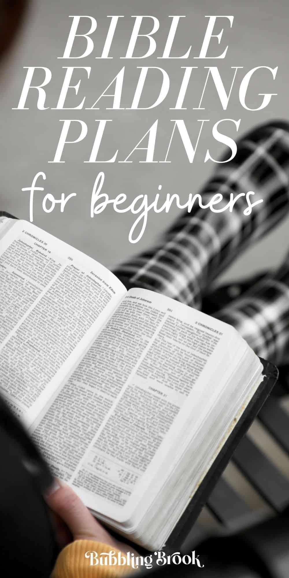 Bible reading plans for beginners - pin for Pinterest
