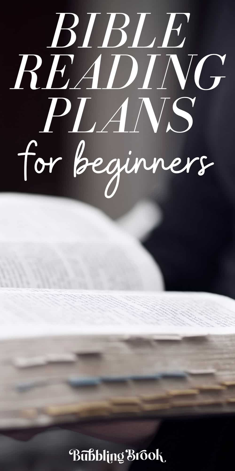 Bible reading plans for beginners