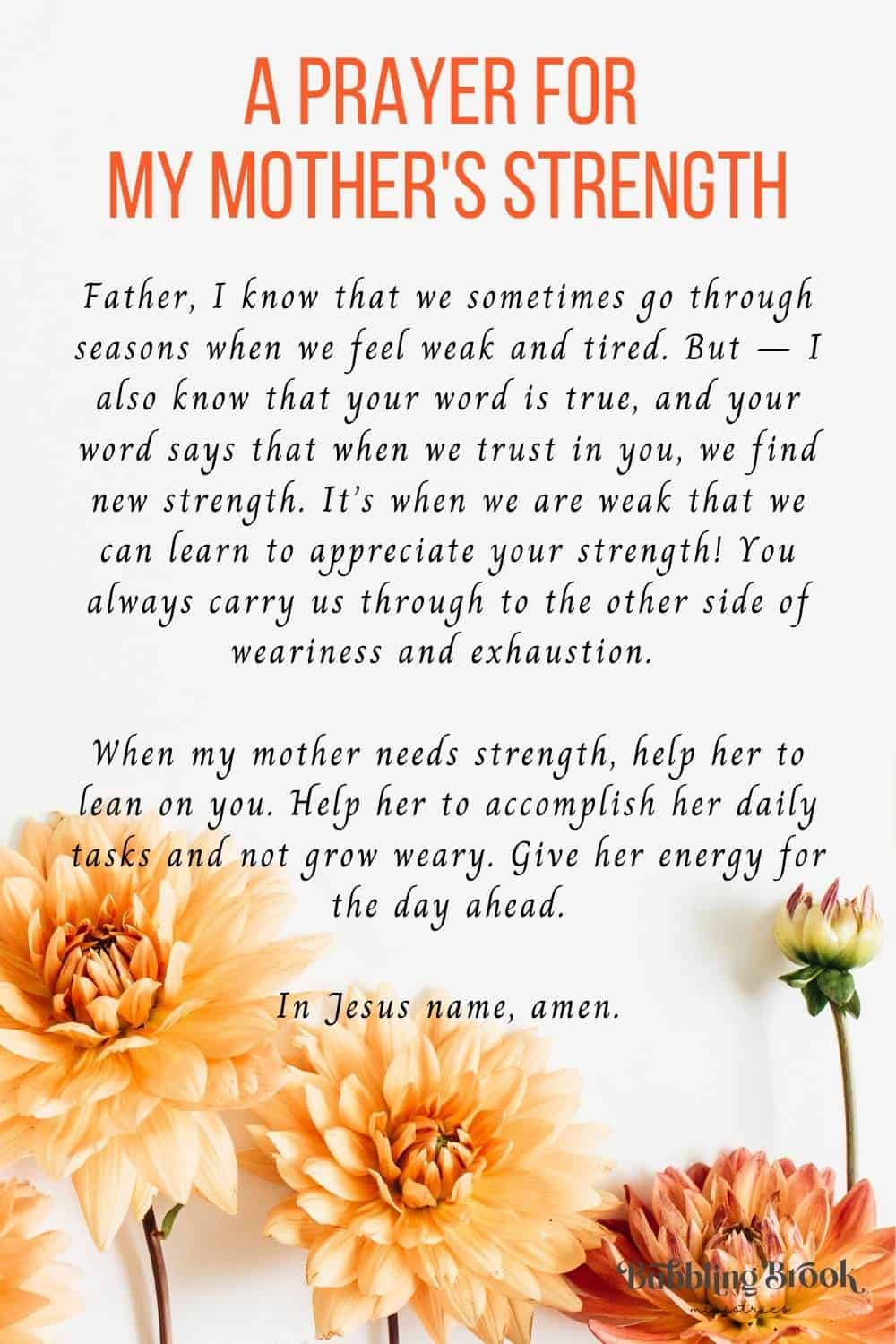 Prayers for Mothers Day - Prayer For My Mother's Strength