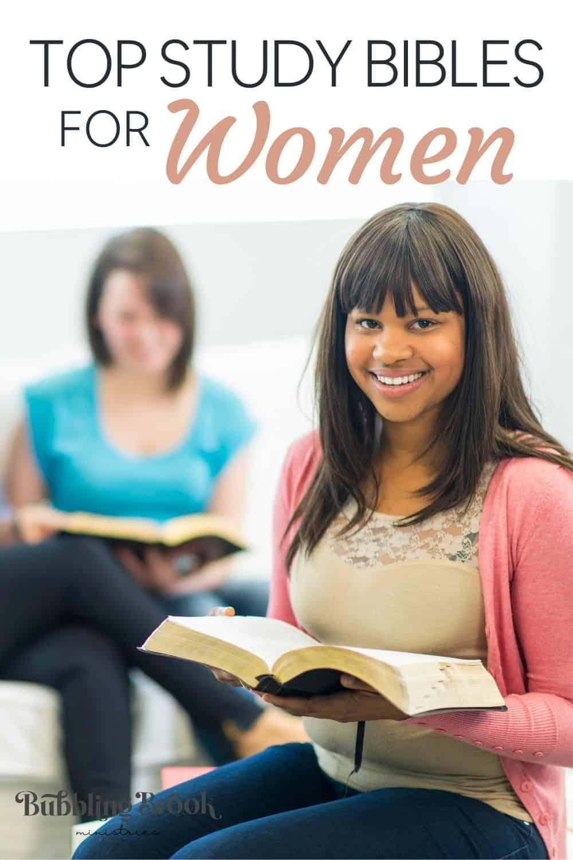 BEST STUDY BIBLES FOR WOMEN - PIN FOR PINTEREST
