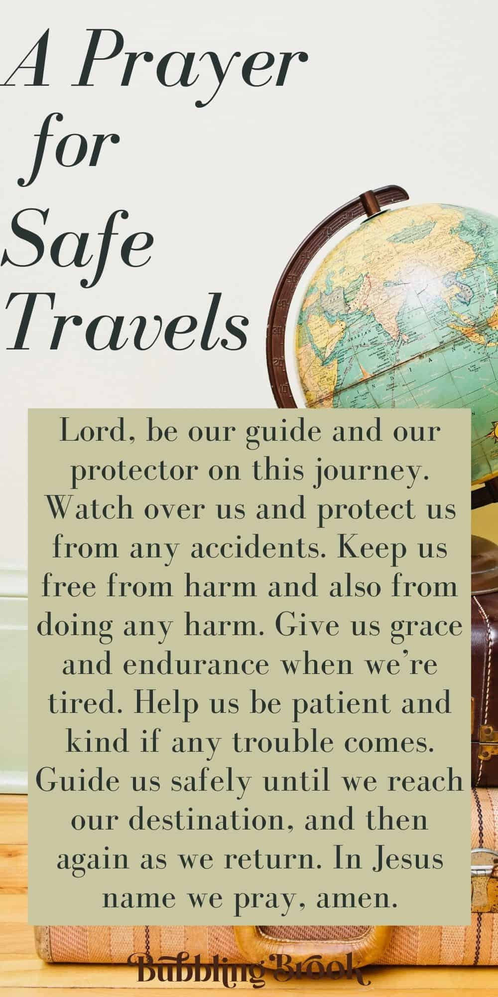 safe journey prayer